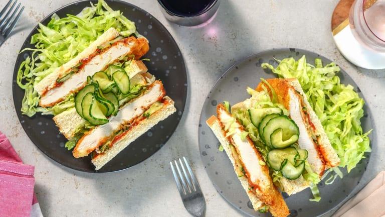Chicken Katsu Sando : sandwich au poulet pané