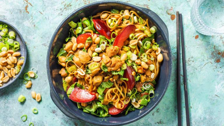 Chicken & Plum Noodle Stir-Fry