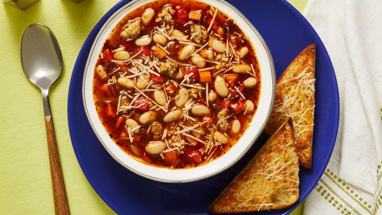 Chicken Sausage & White Bean Soup