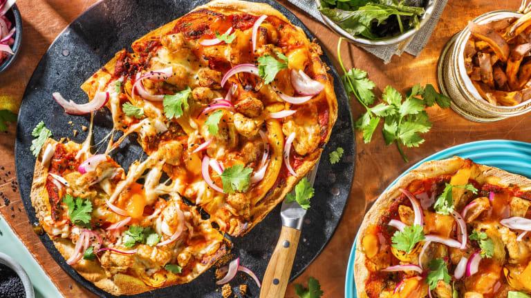 Chicken Tikka Naan Pizza