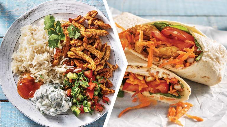 Chicken Tikka & Garlic Rice for Dinner