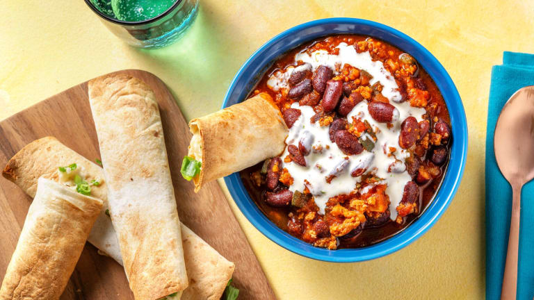 Mexican-Inspired Pork Chili Bowl