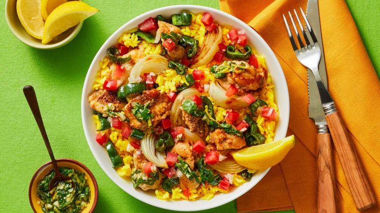 Chimi Chicken & Yellow Rice Bowls