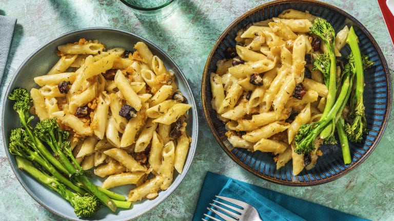 Chorizo-Crusted Penne 'n' Cheese