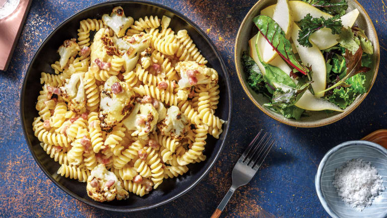 Creamy Cauliflower & Bacon Fusilli