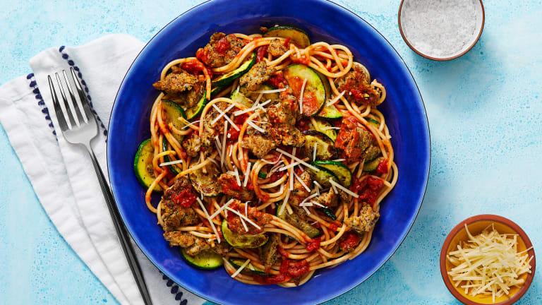 Chicken Sausage Spaghetti Bolognese