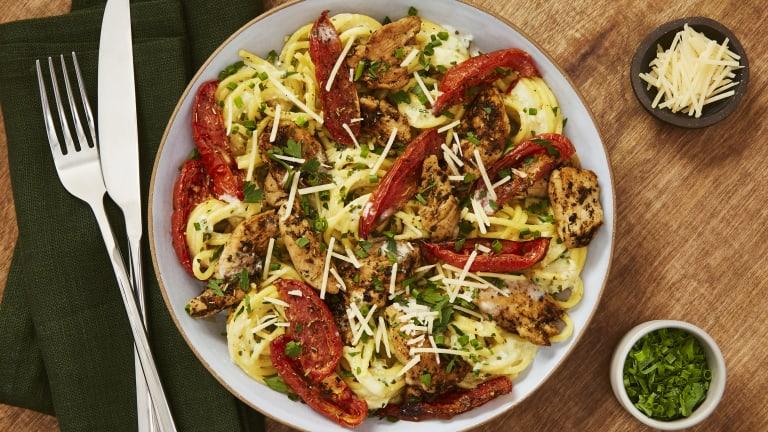 Creamy Parmesan Chicken Spaghetti