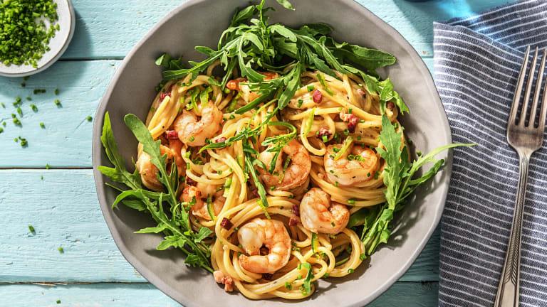 Creamy Prawn Spaghetti