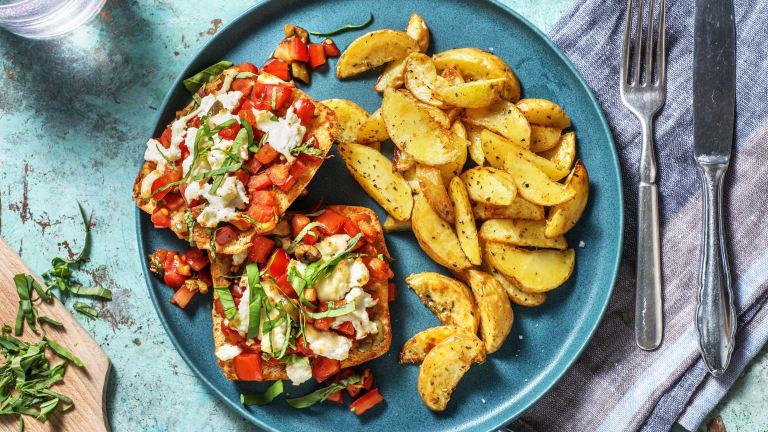 Creamy Stracciatella Cheese and Tomato Sandwich