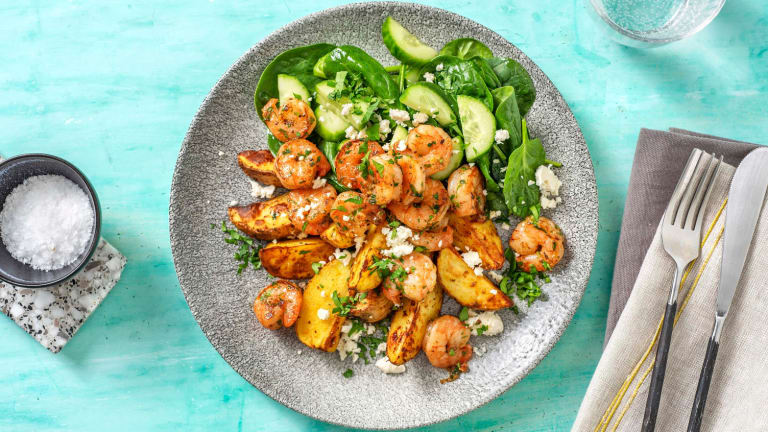 Seasoned Shrimp and Roasted Potatoes