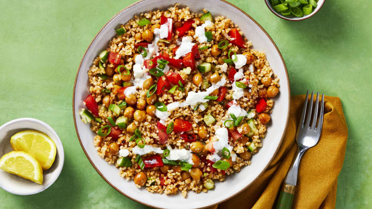 Crispy Chickpea Tabbouleh Bowls