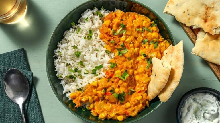 Curry au poireau et au maïs
