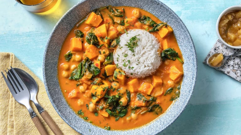 Curry de pois chiches et patate douce