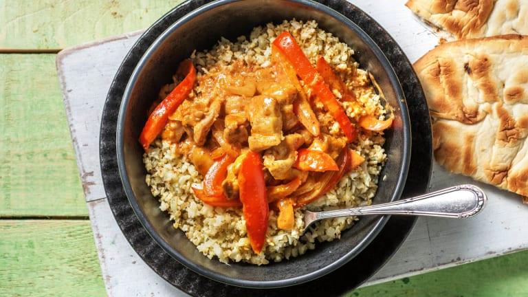 Curry de poulet express & riz de chou-fleur