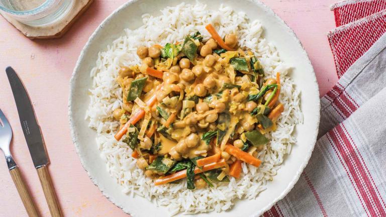 Curry doux aux épinards et aux pois chiches