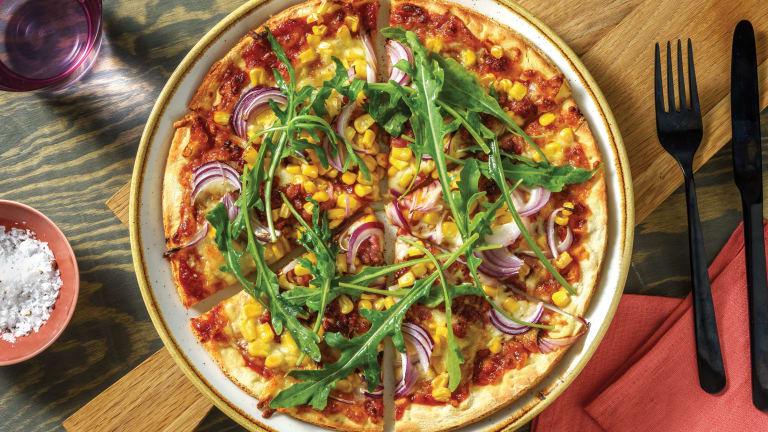 Easy BBQ Bacon & Sweetcorn Pizza