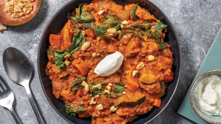 Easy Baked Chicken & Lentil Dhal