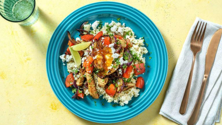 Kipfajita met paprika en rijst met een twist