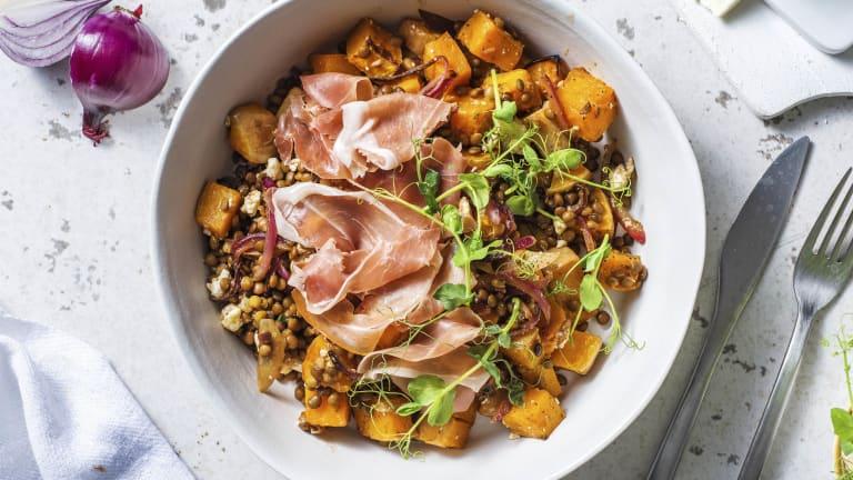 Feta, Serrano Ham and Butternut Salad