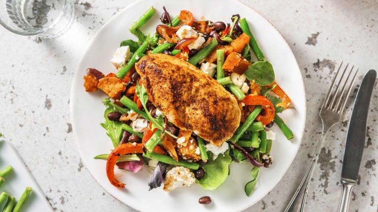 Filet de poulet et salade estivale