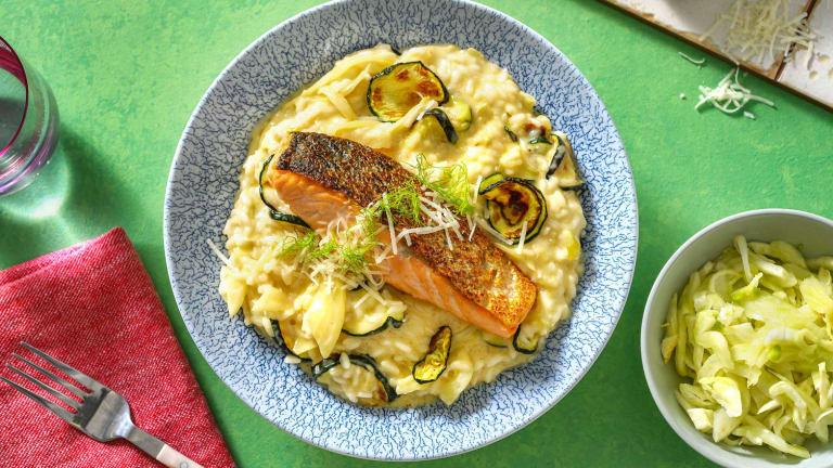 Filet de saumon et risotto