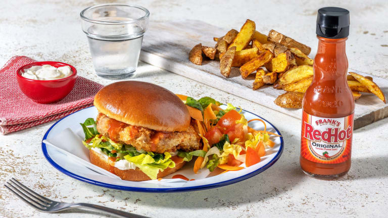 Frank's RedHot Kicking Chicken Burger