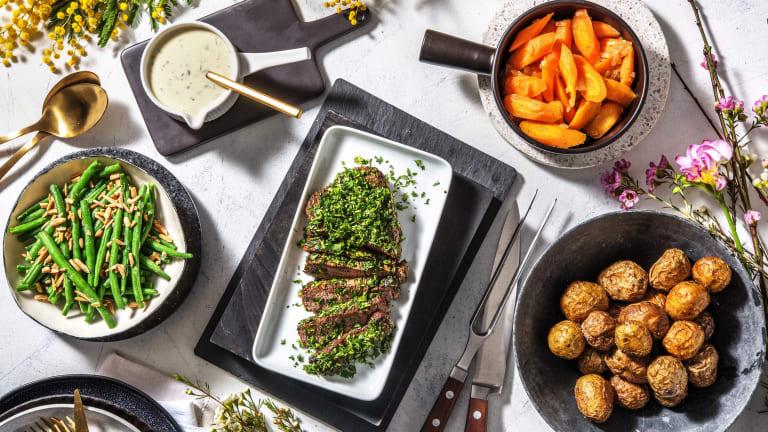 Für Ostern: Rinderhüftbraten mit Vichy-Karotten,