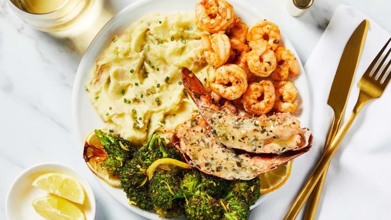 Garlic Herb Butter Shrimp & Lobster Tails