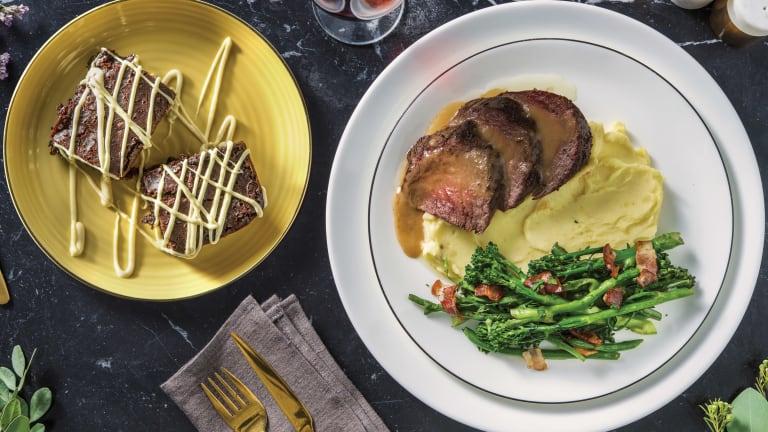 Garlic-Herb Roast Beef & Homestyle Gravy