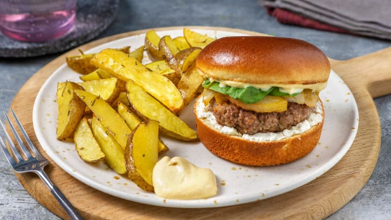 Goat Cheese and Pear Burgers