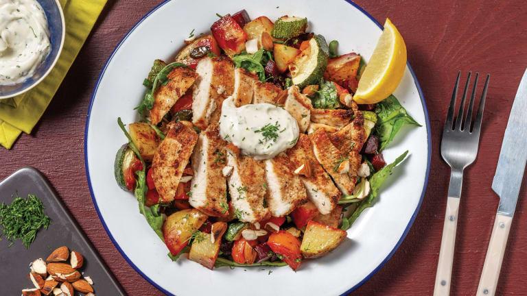 Golden Chicken & Roast Root Veggie Salad