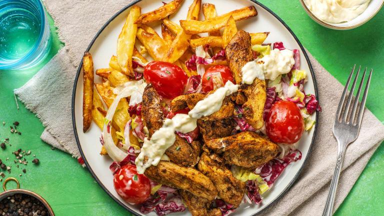 Gyros au poulet façon kebab