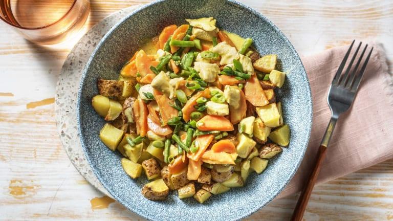 Hähnchengeschnetzeltes in Currysoße