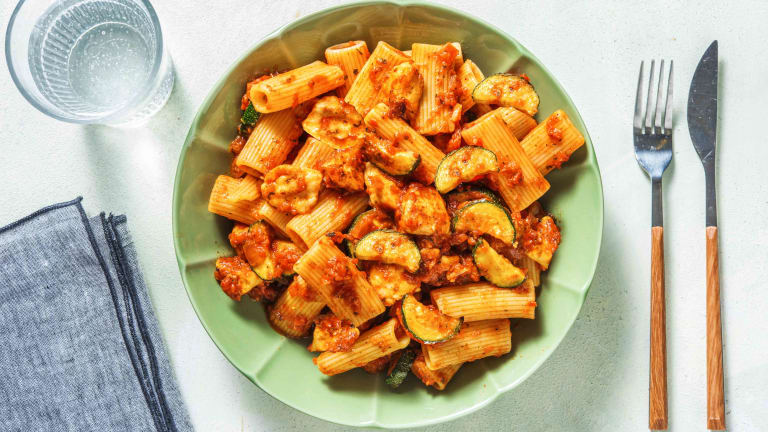 Halloumi and Roasted Vegetable Pasta
