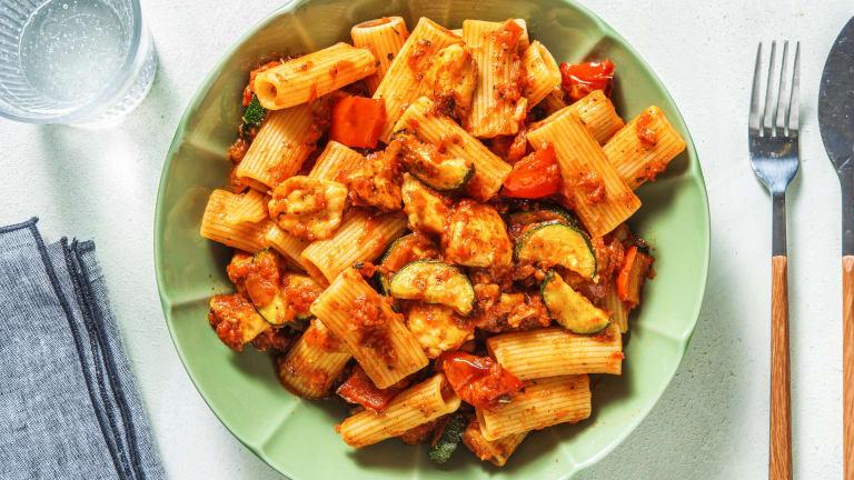 Halloumi and Roasted Vegetable Rigatoni