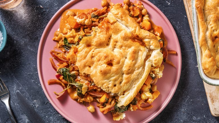 Harissa, Butternut and Chickpea Pie