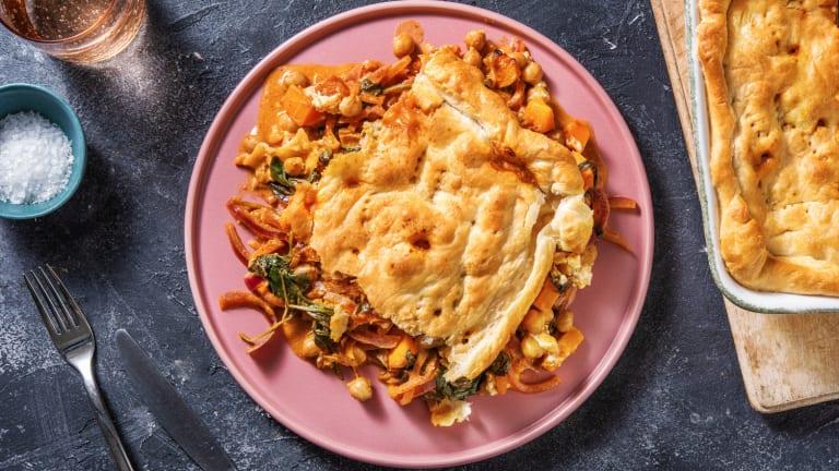 Harissa Butternut and Chickpea Pie