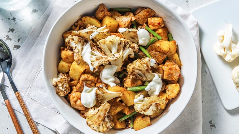 Harissa Chicken with Roasted Cauliflower