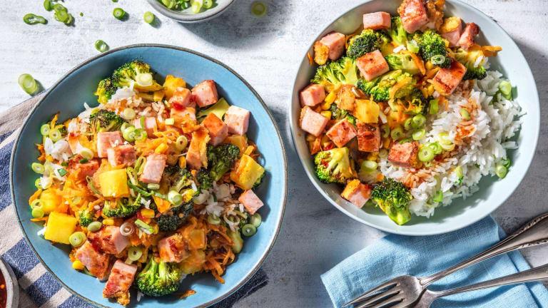 Hawaiian Ham and Veggie Rice Bowl