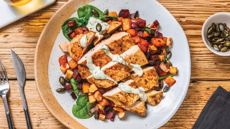 Helen's Spiced Chicken & Roast Veggie Toss