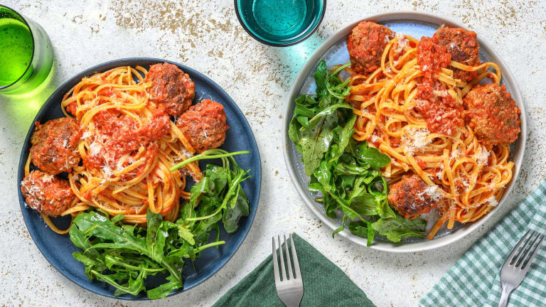 Herby Meatballs and Linguine
