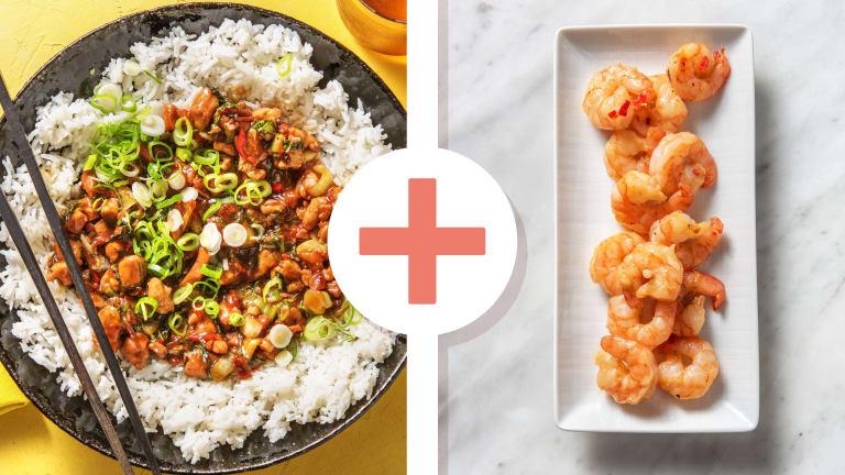 Hoisin Chicken and Prawn Plum Stir-Fry