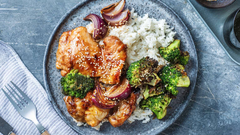 Hoisin Sticky Baked Chicken Thighs