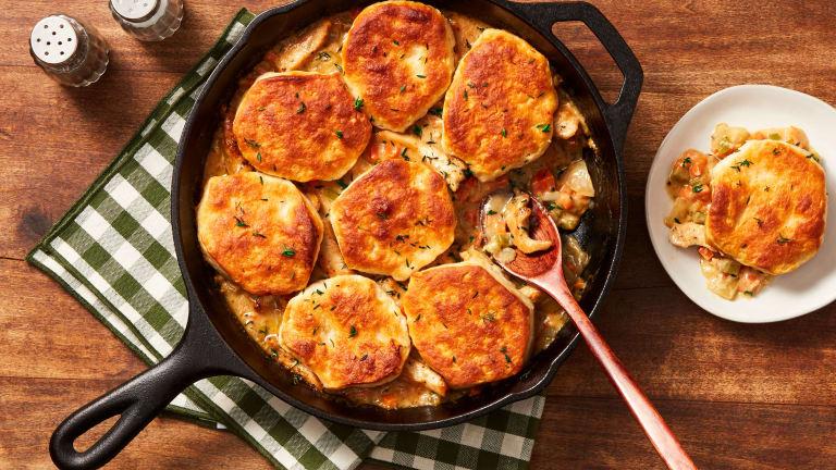 Homestyle Chicken & Biscuit Pot Pie