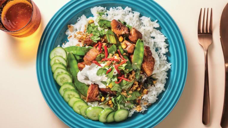 Honey-Soy Chicken Bowl with Sesame Dressing