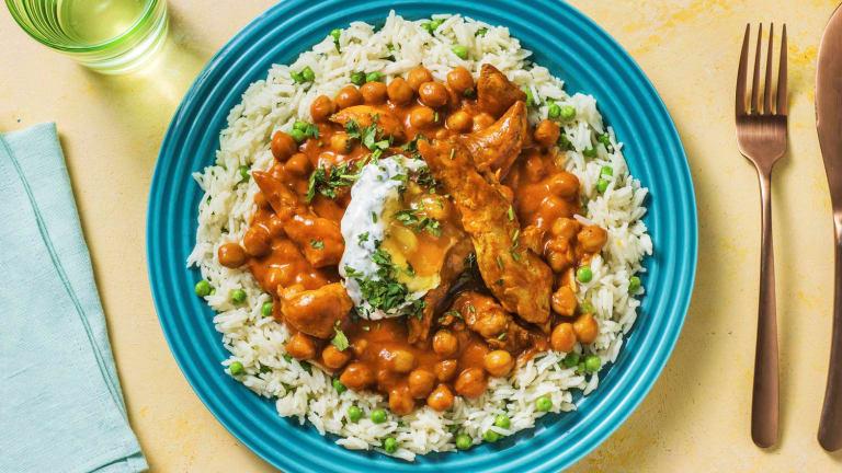 Cari indien au poulet et pois chiches