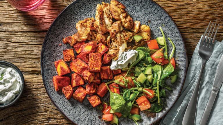 Indian Spiced Chicken & Tandoori Pumpkin