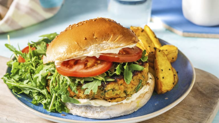 Indian Style Chickpea and Pistachio Burger