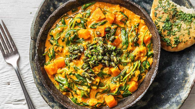 Indiase dahl met zoete aardappel