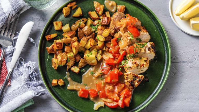 Italian Chicken with Pepper Pan Sauce
